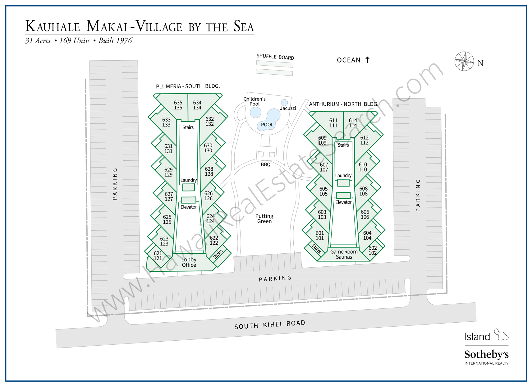 Village by the Sea Map - Kauhale Makai
